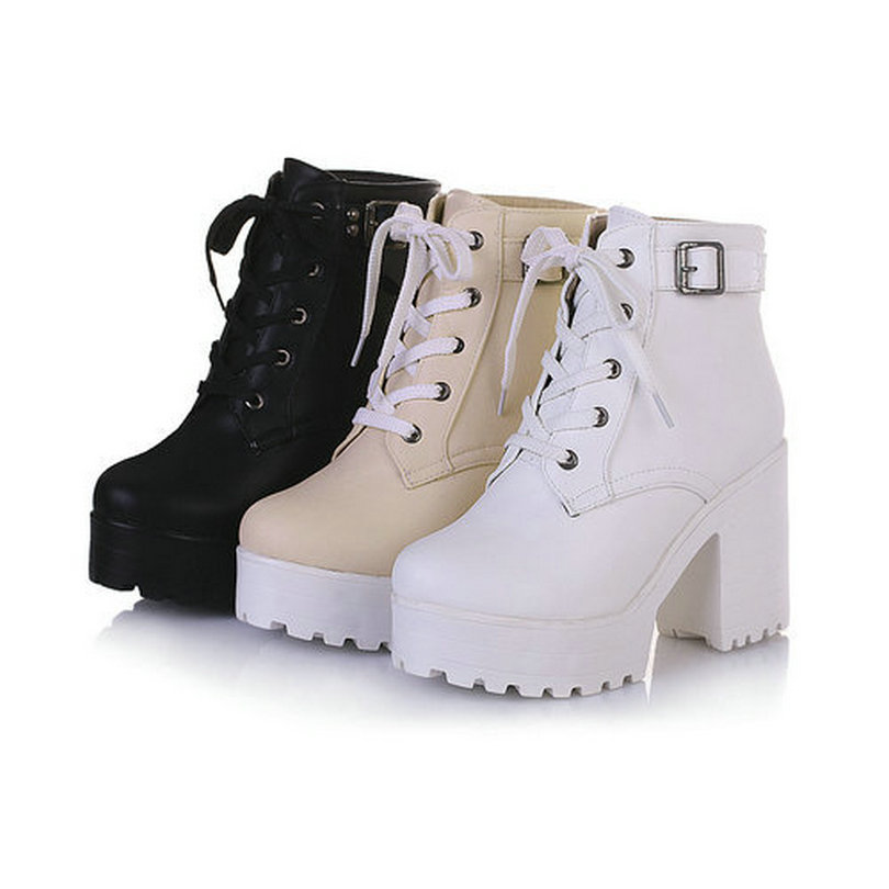 2017 new arrivals Autumn Spring fashion ankle boots for women sexy high heels platform buckle wedding winter shoes