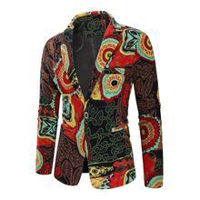 Blazers Men Clothes Slim fit Suits New 2019 Fashion Dress Suit Jacket Floral Cotton Masculino