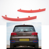 1Pair Car Styling Red Tail Rear Bumper Reflector Lamp Lights LH RH For Volkswagen VW Tiguan
