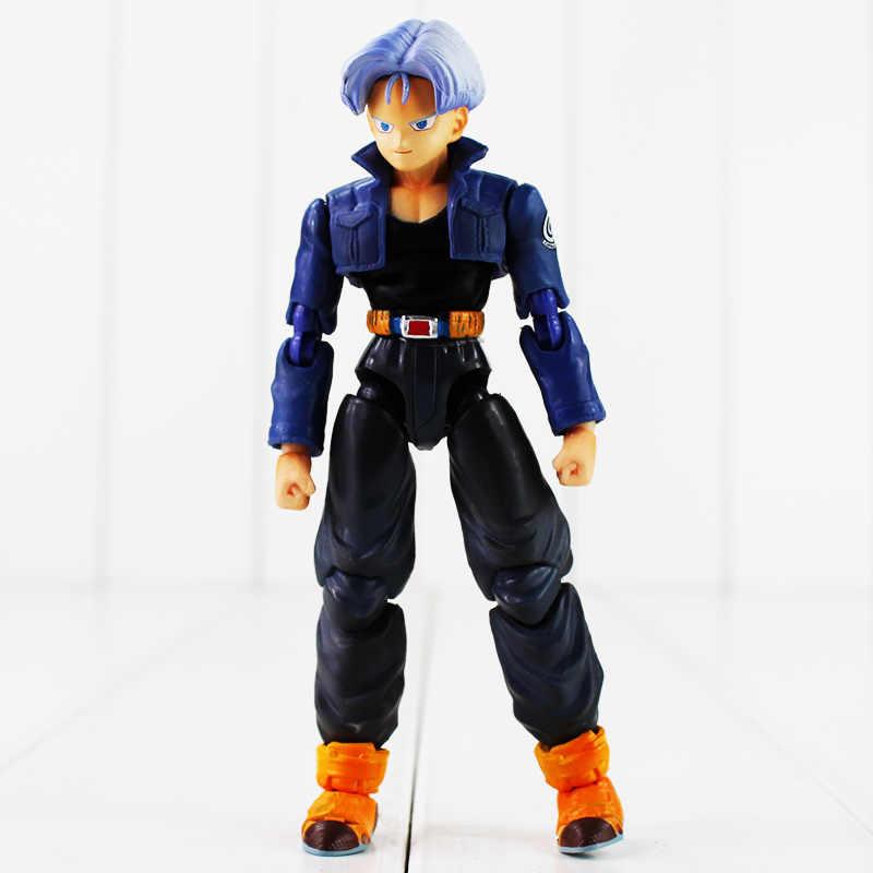 13 cm Cor Encaixotado Móvel Mutável SHFiguart Troncos De Dragon Ball Z dragonball super saiyan PVC Figura Toy