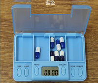 Smart Reminder Sealed Pill Tablet Compartment Case Daily Electronic Timing Medicine Box Container Storage Case 4