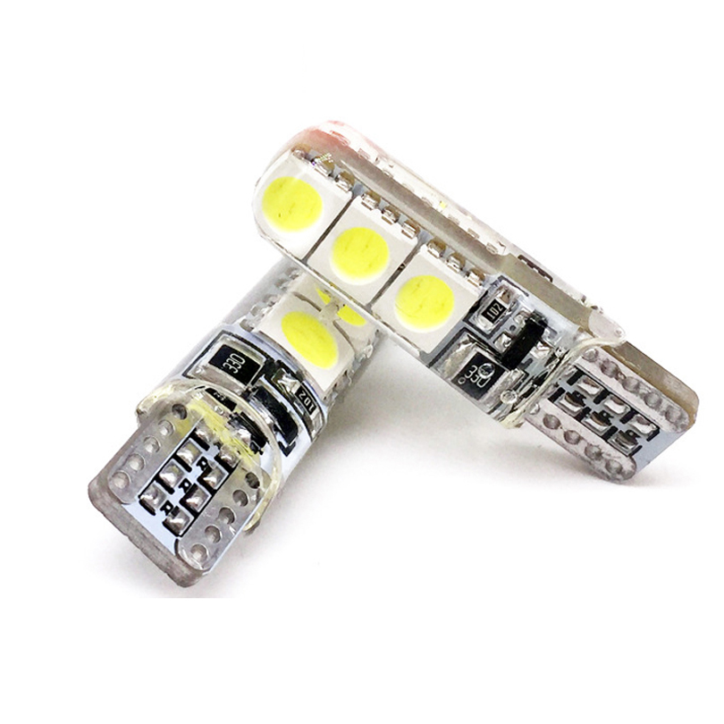 2pcs 12V T10 5050 W5W 6SMD led canbus high power No Error Led Car Interior Bulbs Waterproof Car Lamps 2pcs brand new high quality superb error free 5050 smd 360 degrees led backup reverse light bulbs t15 for jeep grand cherokee