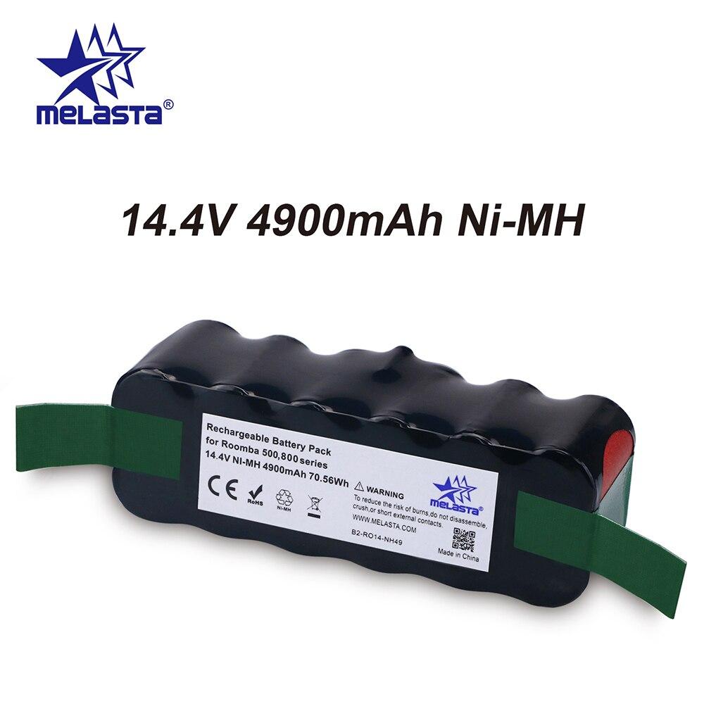 Melasta Updated 4.9Ah 14.4V NIMH Battery For IRobot Roomba 500 600 700 800 Series 510 530 550 560 620 630 650 770 780 870 880 R3
