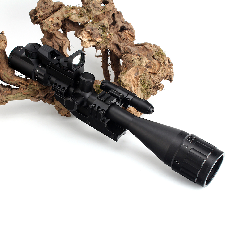 Image 2 - ohhunt 6 24X50 AOEG Hunitng Combo Riflescope Wire Reticle with Red / Green Laser Sights and Red Dot Tactical Optical Sights-in Riflescopes from Sports & Entertainment