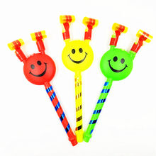 21 Cm Long Smiling Colorful Whistles Kids Childrens Gift Birthday Party Blowing Dragon Blowout Baby Birthday Supplies Toys(China)