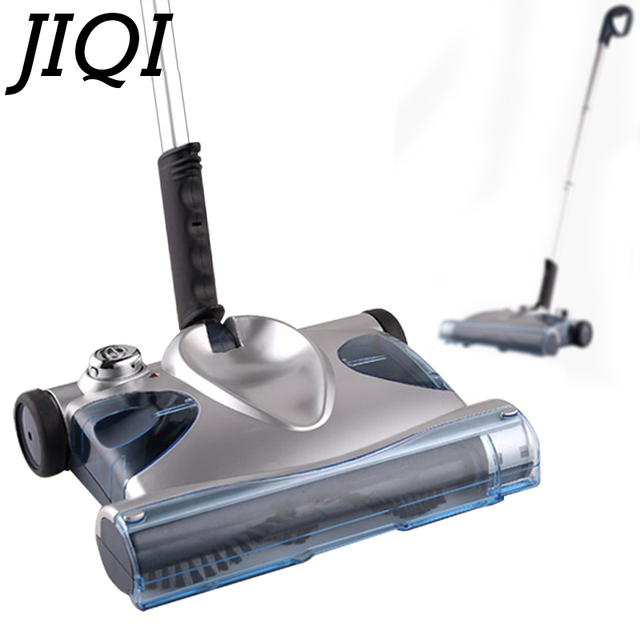 JIQI Sweeping Mop Machine Vacuum Cleaner Handheld Cordless Electric Sweeper Rechargeable Dust Collector Cleaning Broom 110V