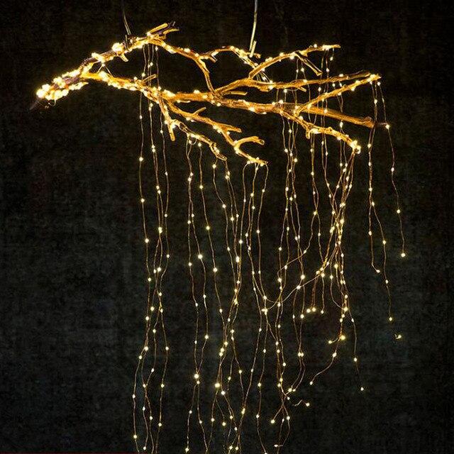1 セット/ロットクリスマスツリートッパー飾る Babysbreath ランプストリング木籐ライト銅線ランプ用パーティー結婚式 Dec