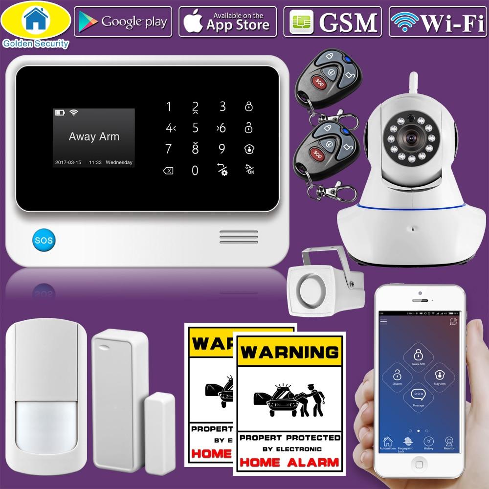 Altın Güvenlik G90B WiFi 2G GSM WCDMA WiFi Alarm Sistemi Ev - Güvenlik ve Koruma - Fotoğraf 1