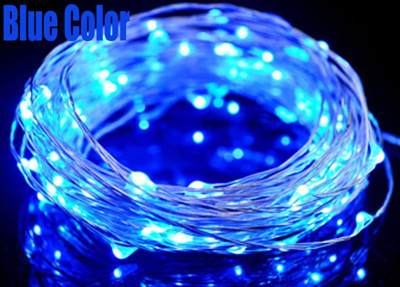 10*100LEDs chirstmas light copper wire LED string light for wedding christmas holiday decoration lighting lamps AA battery