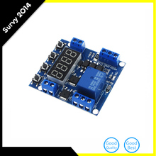 цена на 1 Channel 6-30V Trigger Time Delay Relay Module Cycle Timer Relay Module Circuit Switch