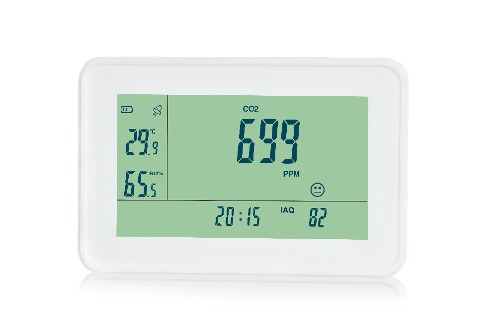 3-in1 CO2 Carbon Dioxide Desktop Datalogger Monitor Indoor Air Quality Temperature Relative Humidity RH 0~9999ppm Clock digital indoor air quality carbon dioxide meter temperature rh humidity twa stel display 99 points made in taiwan co2 monitor