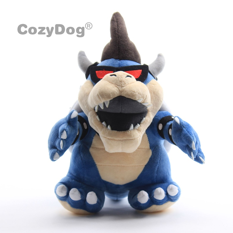 "Super Mario Bros Soft Dolls Stuffed Animals Dark Bowser 11"" Plush Toy 26cm Gift for Kids(China)"