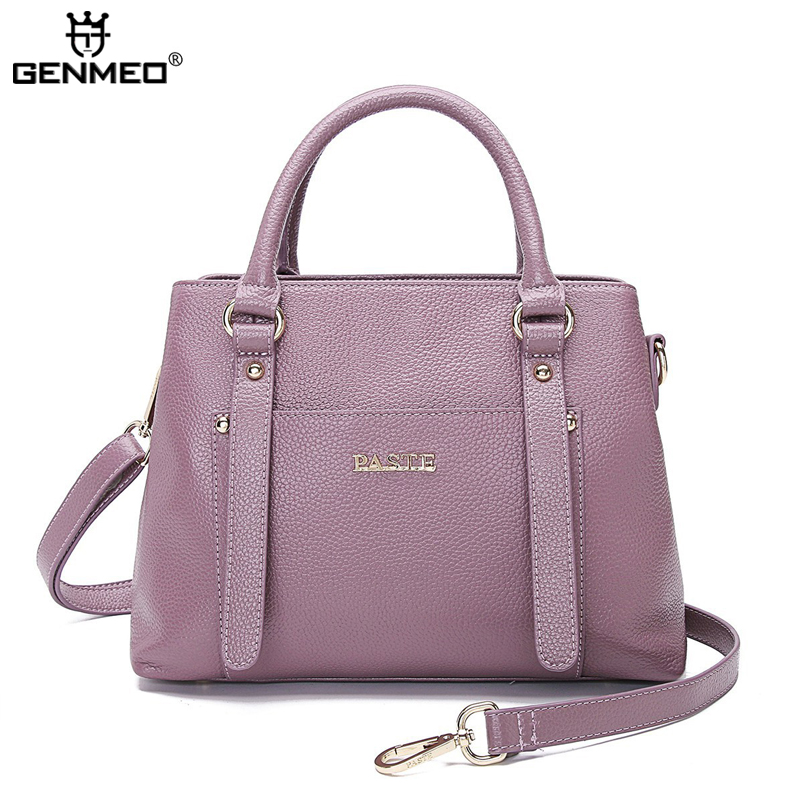 New Arrival Genuine Leather Handbag Women Cow Leather Shoulder Bag Ladies Real Leather Messenger Bag Female Tote Bags Bolsa цена и фото