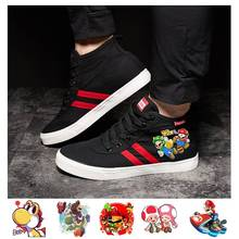 Game Mario Bros Animated Cartoon Long-distance Canvas Shoes