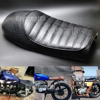 Universal Motorcycle Vintage Saddle Brat Cafe Racer Seat For Suzuki GS Yamaha SR400 SR500 Honda CB400 CB500 CB750 Kawasaki KZ GN