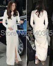 Kate Middleton 2020 suknie wieczorowe Jenny Packham Celebrity czerwony dywan sukienka Vintage Jewel Neck suknie wieczorowe z długim rękawem K13 tanie tanio DLASSDRESS Scoop Poliester NYLON Stretch Spandex Akrylowe Rayon Pełna Długość podłogi Celebrity sukienki REGULAR