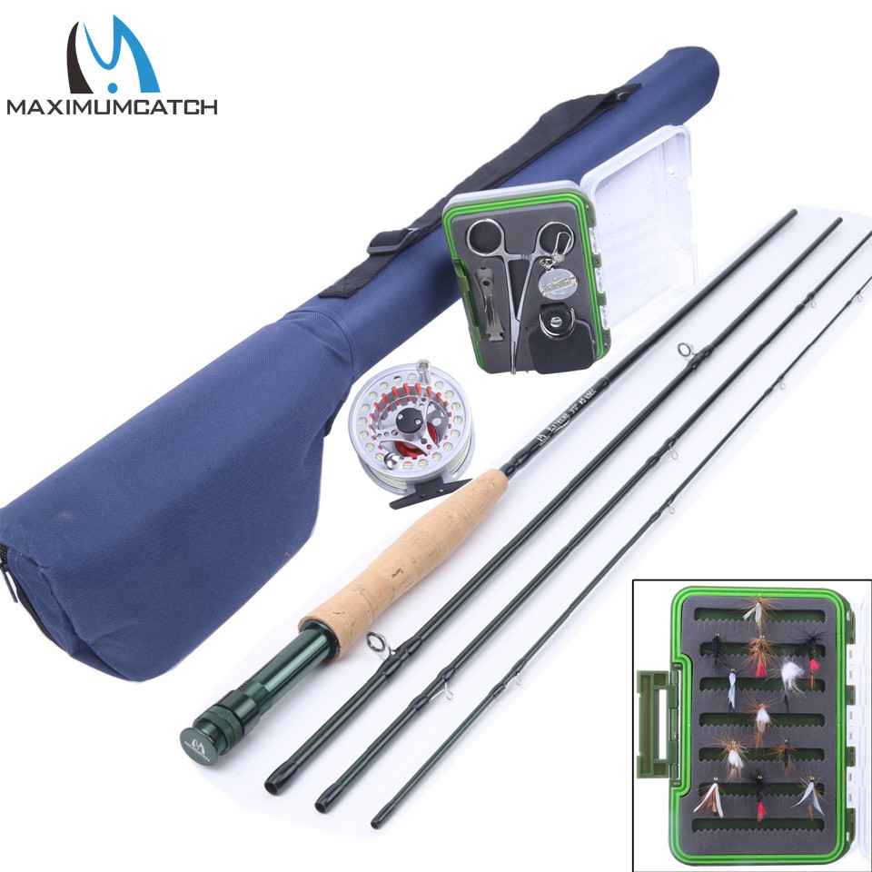 Maximumcatch 3-8WT 8.4-9FT Fly Rod & Fly Reel & Fly Line & Fly Box & Fishing Tool Combo maximumcatch slim fly box silicone insert 100