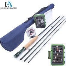Maximumcatch 3-8WT 8.4-9FT Fly Rod & Fly Reel & Fly Line & Fly Box & Fishing Tool Combo