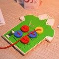 Creative Kids Niños Niñas Juguetes Educativos Para Niños de Madera de Coser Botones de Juguetes Los Niños Temprano Educativo Enseñanza Juguetes Nuevo Caliente!