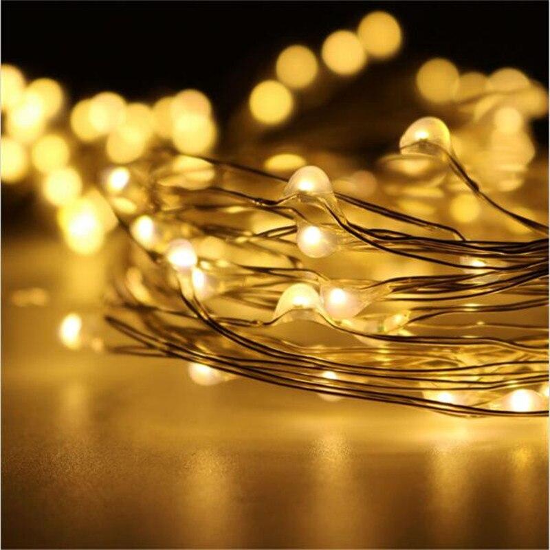 10M Solar Powered 100led Strip String Copper Wire Lights For Garden Parties Wedding Landscape Decoration Led Lighting