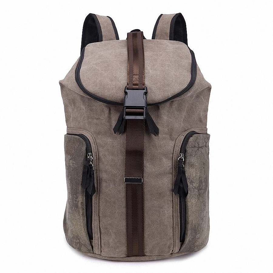 ФОТО Fashion Vintage Canvas backpack barrel style Men's backpacks 2016 Bucket School Backpacks student Travel Bags LI-1398