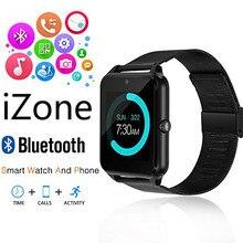 IZone 2017 Smart Watch Z50 Bluetooth Наручные Часы Телефон с СИМ Слот Для карт Памяти/Сенсорный Экран/Камера для iPhone 7/6 Плюс