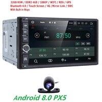 4 ядра чистый Android 8,0 автомобильный мультимедийный плеер автомобильные ПК планшеты двойной 2din 7 ''gps навигации стерео радио Bluetooth Нет DVD