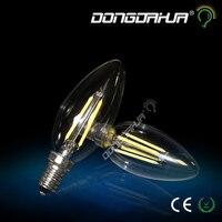 Tungsten Light C35J Candle Light Bulb Retro Energy Saving Lamp E14 2W 4W High Brightness Home