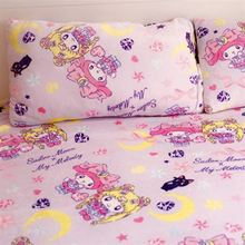Candice guo plush toy cartoon style Melody Sailor Moon luna cat soft air condition bed blanket pillowcase rest sleeping gift 1pc
