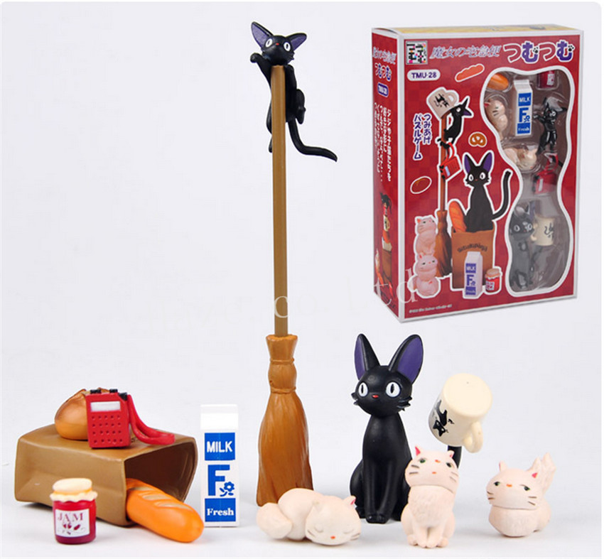 アニメキキの宅急便キュートな黒猫キキPVCフィギュア置物像