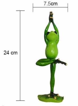 Funny Yoga Frog Figurine 6