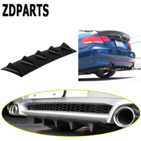 ZDPARTS Car Shark Fin 7 Wings Bumper Spoiler Stickers For Suzuki Grand Vitara Swift SX4 Mitsubishi ASX Audi A 4 b7 b8