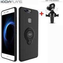 Iconflang автомобильный держатель телефона с кольцом чехол для Huawei Mate 9 P9 P10 V8 Honor 8 Pro Honor 8 Lite задняя крышка кожи протектор