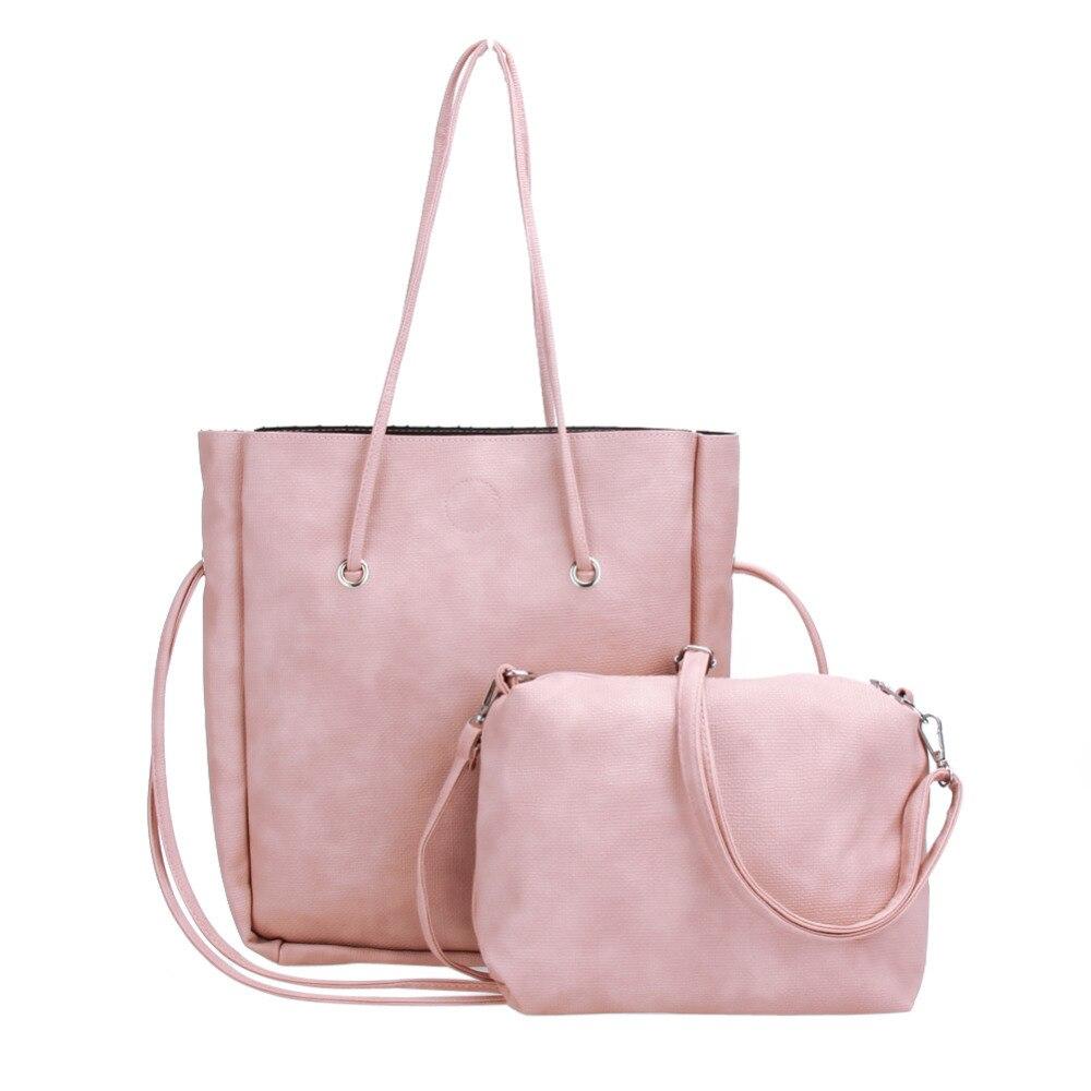 2pcs Women Composite Bags Ladies New Design Messenger Shoulder Bag Handbags PU Leather Crossbody Bags Women Large Tote Handbag