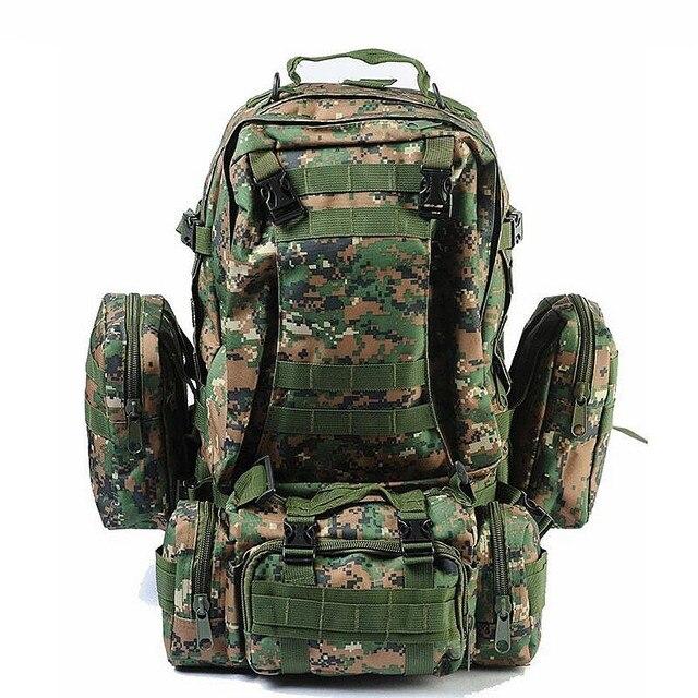 גבוהה באיכות 50L גדול קיבולת Bagpack Molle צבאי תרמיל רב תכליתי עמיד למים גברים תרמיל תרמיל תיק נסיעות