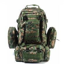 Wysokiej jakości plecak o dużej pojemności 50L plecak wojskowy Molle wielofunkcyjny wodoodporny plecak męski plecak do podróży