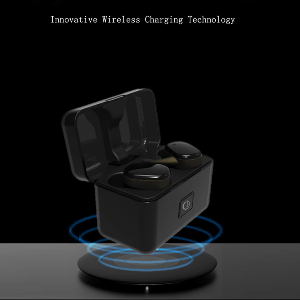 Mini Wireless Charging Bluetooth Earphone Headset In-ear Noise Cancelling Waterproof With Microphone Hand Free For Mobile Phone wireless bluetooth headset mini business headphones noise cancelling earphone hands free with microphone for iphone 7 6s samsung