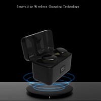 Mini Wireless Charging Bluetooth Earphone Headset In ear Noise Cancelling Waterproof With Microphone Hand Free For Mobile Phone