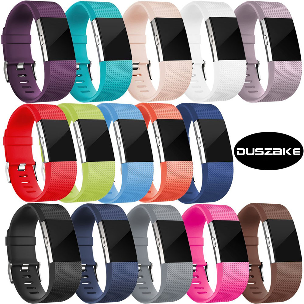 DUSZAKE Accessories For Fitbit Charge 2 Band Replacement Bracelet Strap For Fitbit Charge 2 Band Wristband For Fitbit Charge 2 soft silicone bands for fitbit charge 2 band smart watch bracelet for fitbit charge 2 bands accessories for fitbit charge 2 band