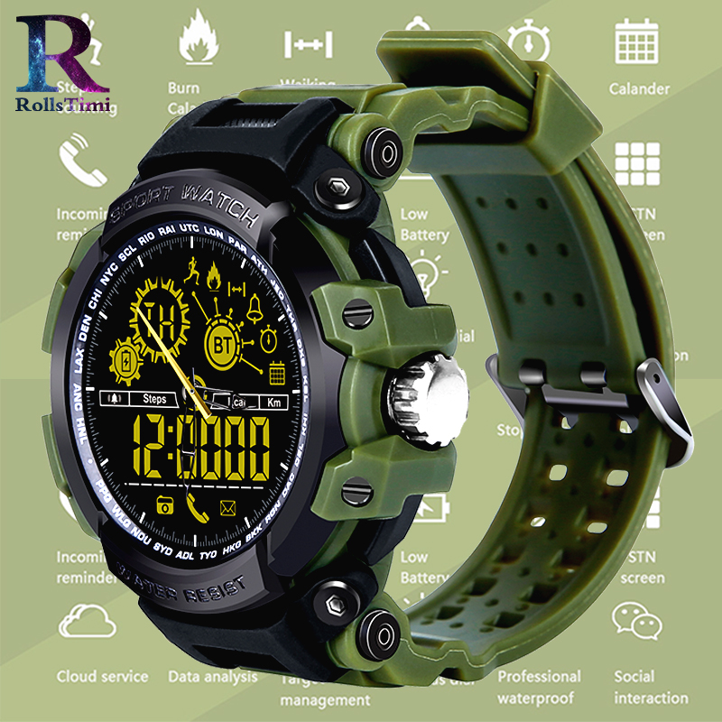 RollsTimi Mens Sports Watches Dual Display Analog Digital Electronic Smart Watch Waterproof Wristwatches Swimming Military Watch men sports watches dual display analog digital led electronic quartz wristwatches waterproof military watch reloj hombre skmei