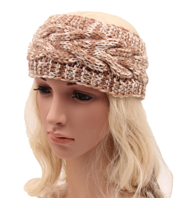 women Knitted Headband Chunky Headband handmade Ear Warmer Cabled Headband  Head wrap in Stone Beige Taupe Hair Accessories 5pcs 4d018dd751f