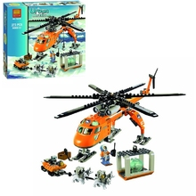 273pcsArctic Helicrane CITY Set Helicopter Husky legoing Hot 2019 NEW 10439 Compatible with childrens building blocks