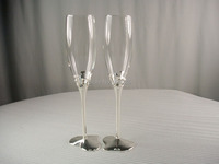 New Arrival 1pair Wedding Glass Champagne Flute Goblet Lovers Cup Red Wine Cup With L O