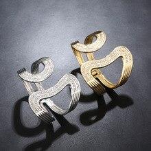 WLP brand jewelry 2017 New women Hollow Zircon crystal Bangle Bracelet Gold silver love open bangles bracelets for women girl