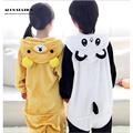 Free Shipping 2016 Hot Children cosplay Costume Panda and Bear Synthetic Jumpsuit Pajama Sets Costume Halloween Costumes