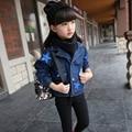 Spring Girl Denim Jacket Stars Coat Fashion Children  Clothes Outerwear Kids Cowboy Cardigan Teenage Short-style Jacket