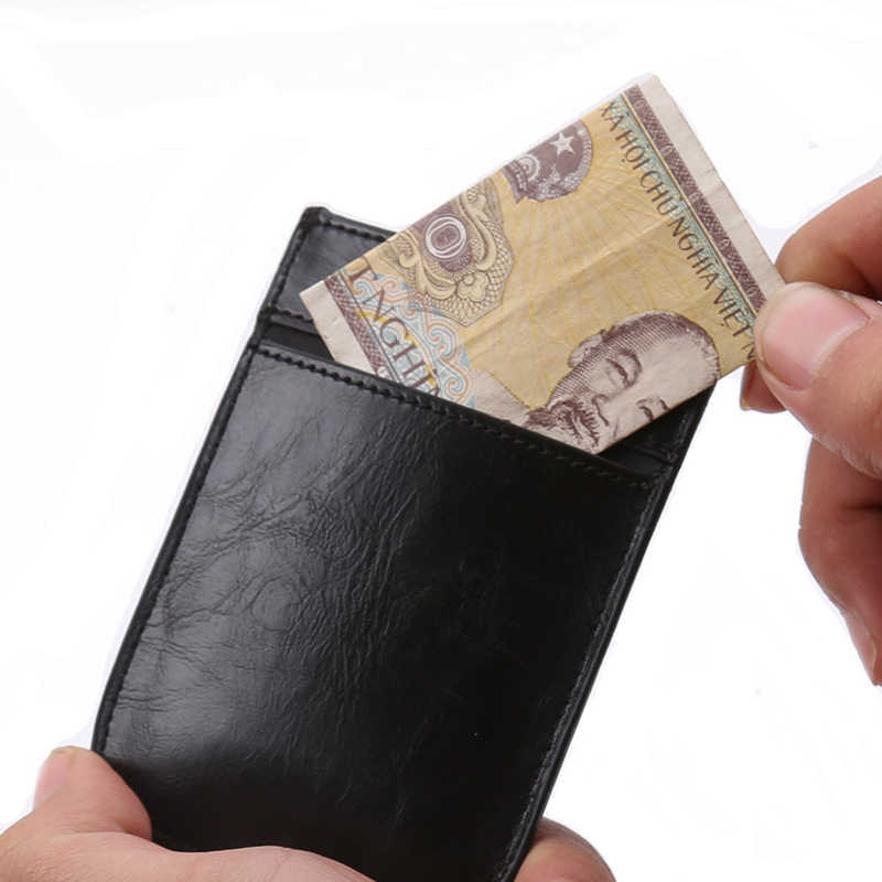 2019 新しい男性クレジットカードホルダーファッション pu レザーカードホルダーと rfid カードケース描画タイプミニカード財布コインポケット