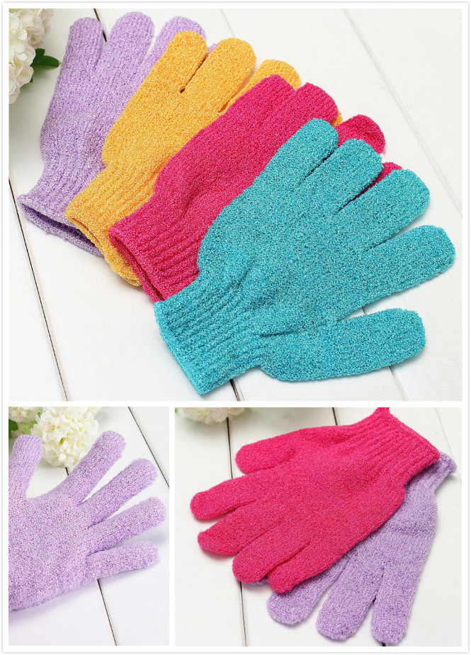 Scrub Exfoliating Body Massage Sponge Bath Gloves Skin Bath Shower Wash Cloth Shower Scrubber Moisturizing Spa Skin Cloth Random
