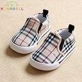Bebê das meninas dos meninos da lona shoes crianças sneakers crianças moda respirável flats sapato casual xadrez pequeno crianças slip-on sapato c124