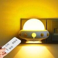 Mi Ni UFO LED Kleine Nachtverlichting Plug In Met Remote Dimmen Helderheid Lamp Slaapkamer Babyvoeding Bed Woonkamer verlichting